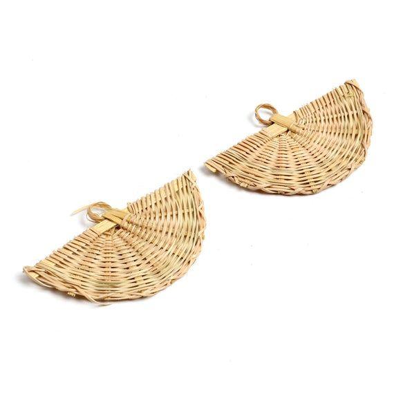 Wooden Banjo Earrings//Wooden Jewelry