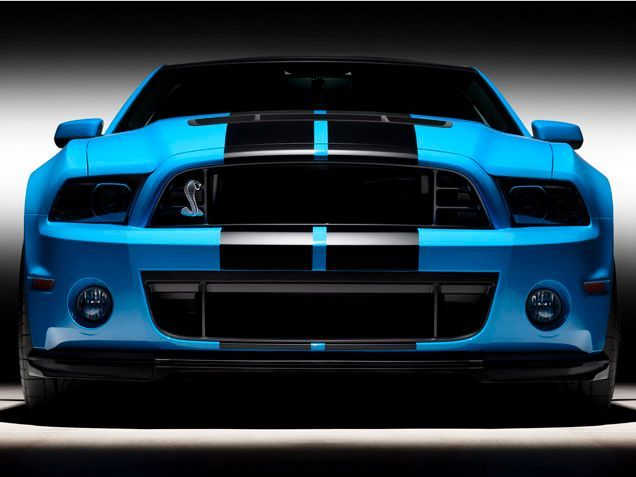 Black, blue and gorgeous all over - 2012 Ford Mustang Shelby GT500