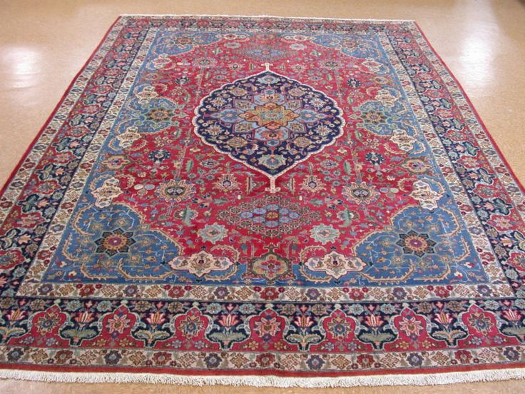 carpet ebay. 9x14 antique persian oriental tabriz hand knotted wool red blue area rug carpet ebay e