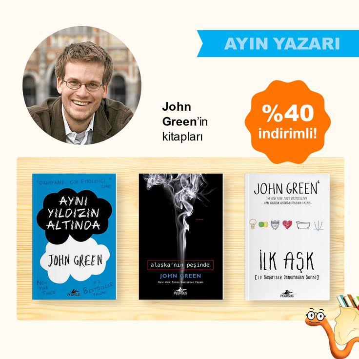 Ayın Yazarı John Green'in Kitapları %40 İndirimli!