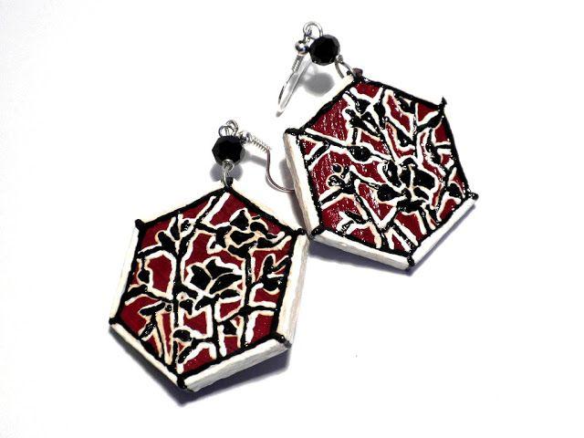 #painted #earrings #handmade