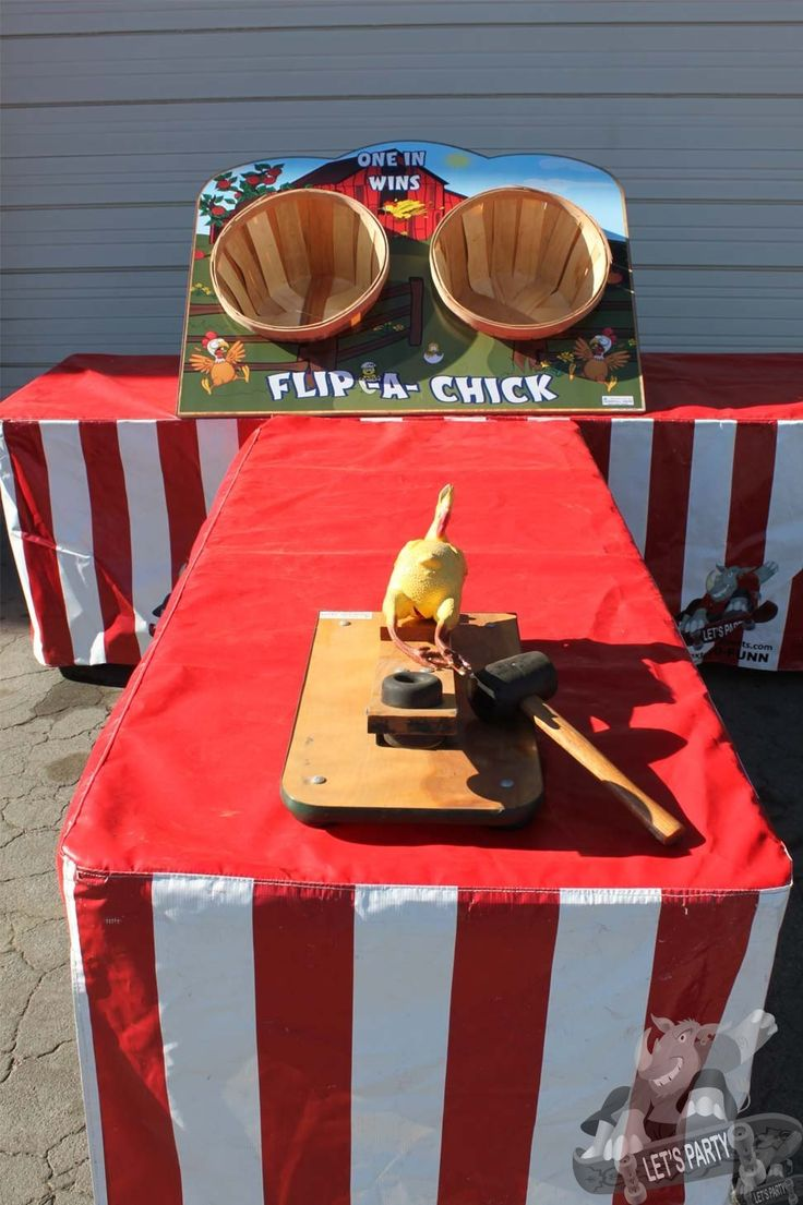 The object to this classic game rental is to take your launcher (provided by us) and catapult your rubber chicken in the basket. This takes technique and good aim. Great for any western theme party. This classic west coast carnival game rental is available for rental in most Bay Area cities.