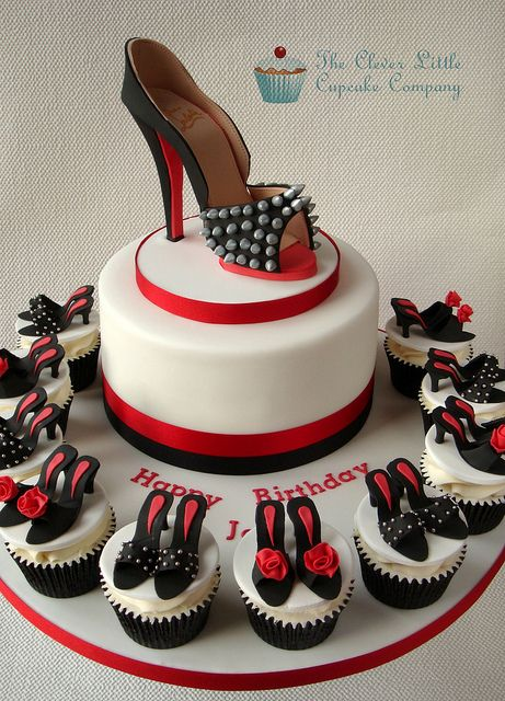 ♡♡/ Louboutin Shoe Cake by The Clever Little Cupcake Company