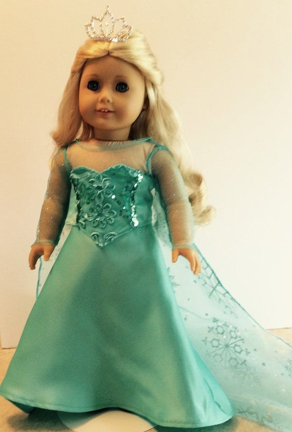 American Girl Doll Clothes -- Elsa Costume from Frozen for 18 Inch Dolls