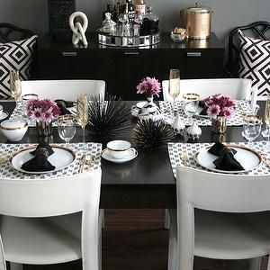 Best 25 Black Dining Tables Ideas On Pinterest  Black Dining Cool Black And White Dining Room 2018