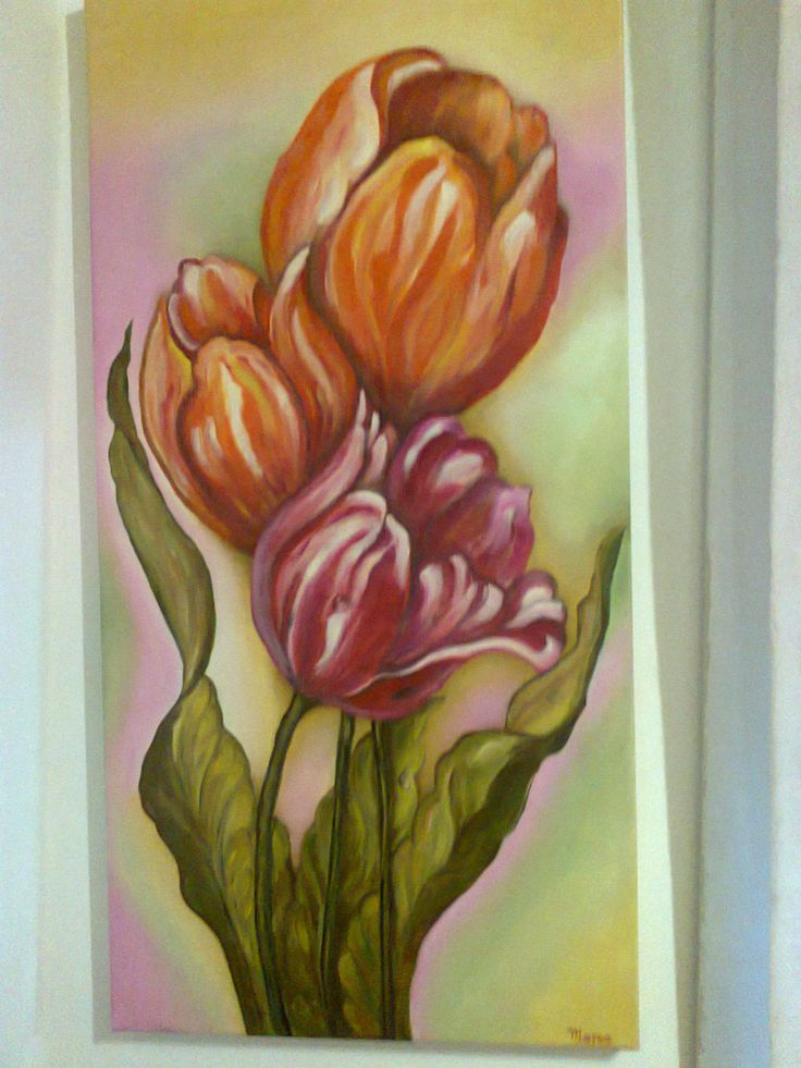 tulipanes, 40x80