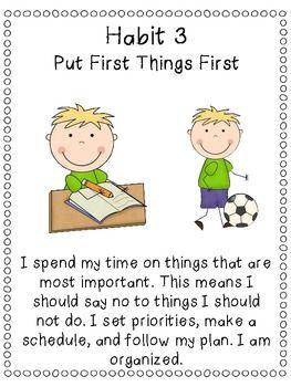 7 Habits of Happy Kids Classroom Poster Set - Third Grade Bookworm - TeachersPayTeachers.com