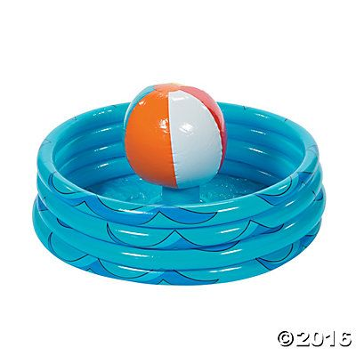 Inflatable Beach Ball in Pool Cooler :: Oriental Trading :: $12.99 :: http://www.orientaltrading.com/inflatable-palm-tree-in-pool-cooler-a2-34_1436.fltr?Ntt=pool%20party