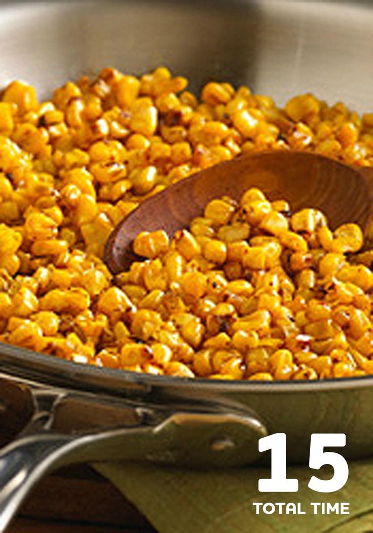 This healthier Pan Roasted Corn recipe is ready for the dinner table after just 15 minutes!
