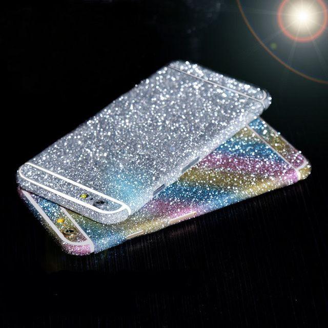 Luxury leopard glitter foil sticker body scrub color film Star flash mobile phone protective film For iphone 4 5 5S/6 6S/6 Plus - US $1.03 - 1.29