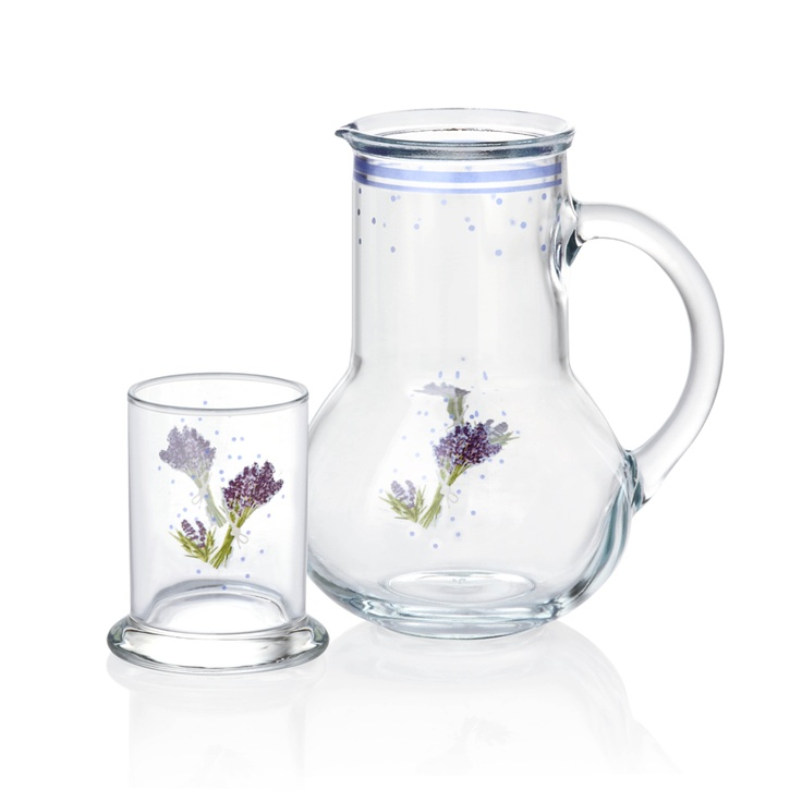 Lavender Başucu Sürahisi / Pitcher #bernardo #bedroom #water