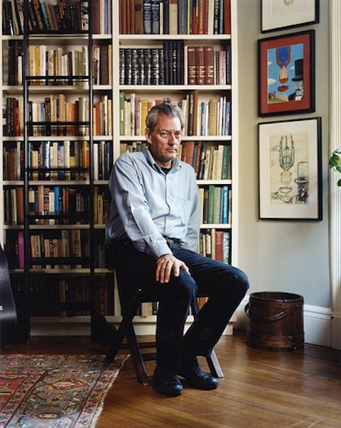 Paul Auster in his home in Park Slope