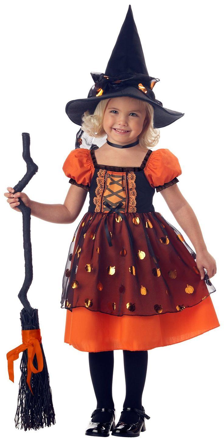 Pretty Pumpkin Witch Toddler Costume Size Medium 34