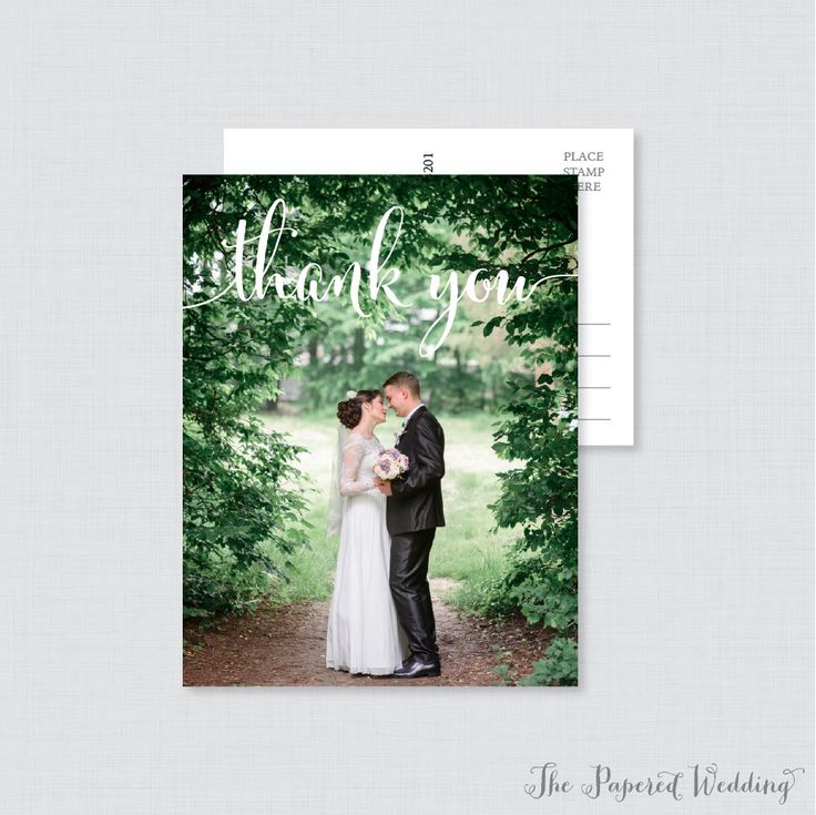 Printable OR Printed Wedding Thank You Postcards - Photo Thank You Postcards for Wedding - Photo Postcards with Picture 0002 by thepaperedwedding on Etsy https://www.etsy.com/listing/502129407/printable-or-printed-wedding-thank-you