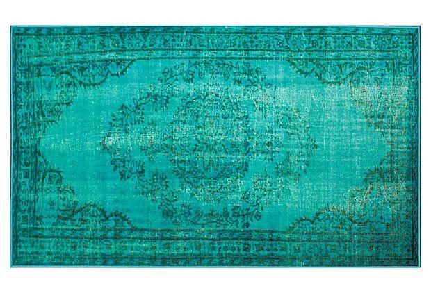Genisa Rug, Turquoise on OneKingsLane.com