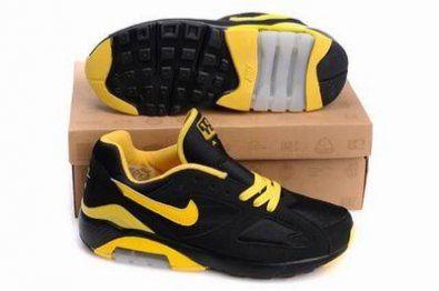 Nike Air Max 180 zapatillas de negro / amarillo http://www.esnikerun.com/