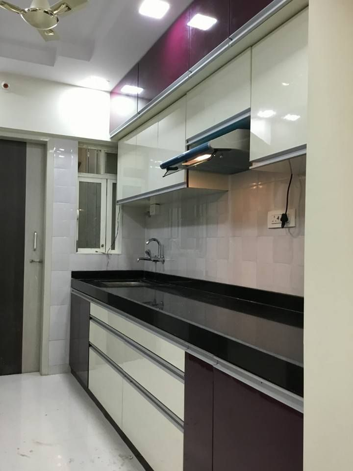 Kumar Interior Thane Just Completed 2bhk Flat Interior Site Live Video And Some I Modern Kitchen Cabinet Design Kitchen Furniture Design Flat Interior Design