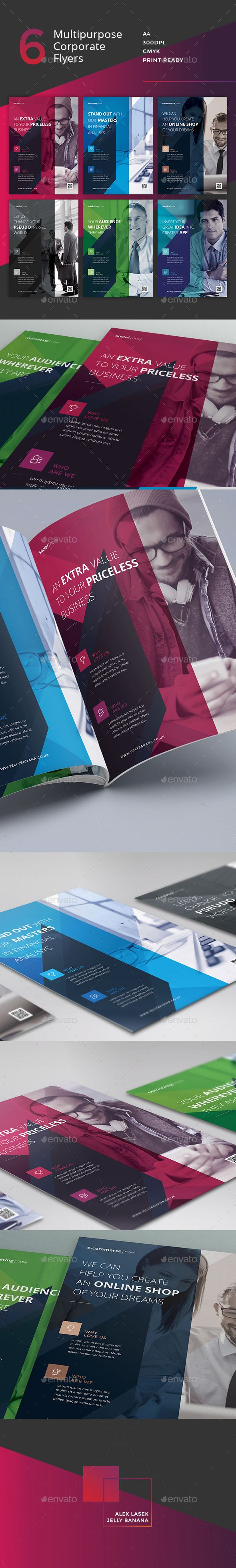 Corporate Flyer - 6 Multipurpose Business Templates vol 4 - Corporate Flyers