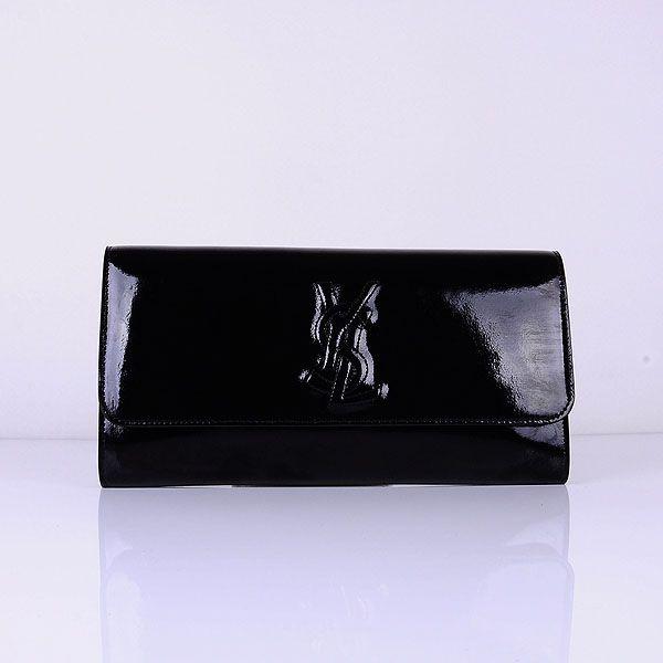Yves Saint Laurent Lady Patent Leather Purse Black 39321      $178.00