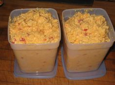 Incredible Pimiento Cheese Spread.  This recipe makes a ton of spread.  Good to know it can be frozen.