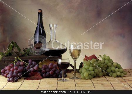 Ambientazione uva e vino stock photo