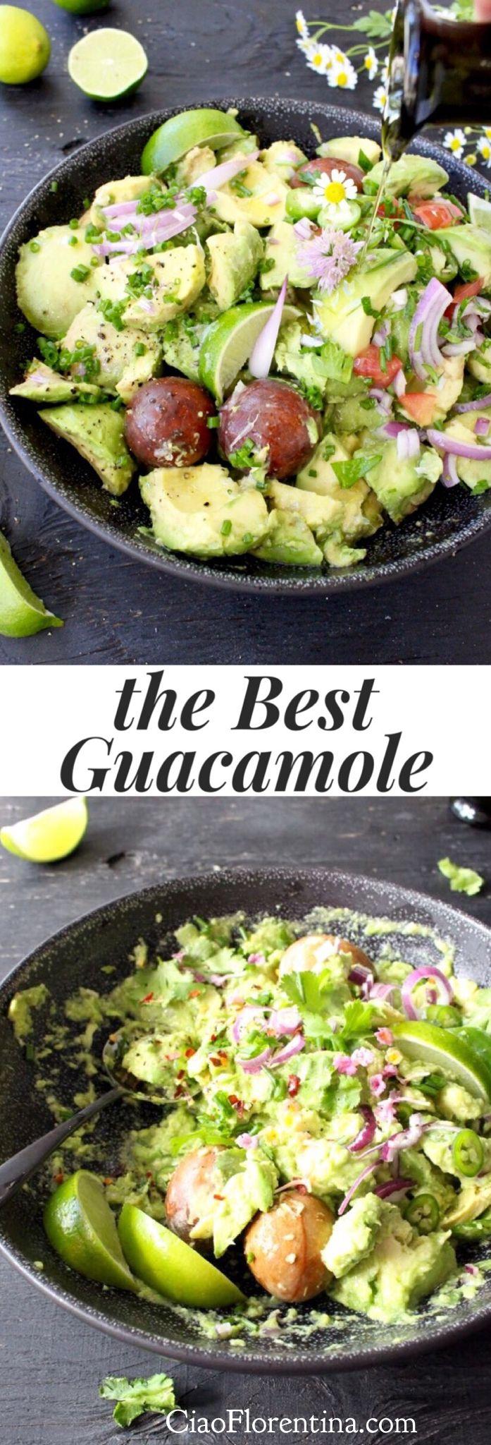 The Best Simple Homemade Guacamole Recipe   | CiaoFlorentina.com @CiaoFlorentina
