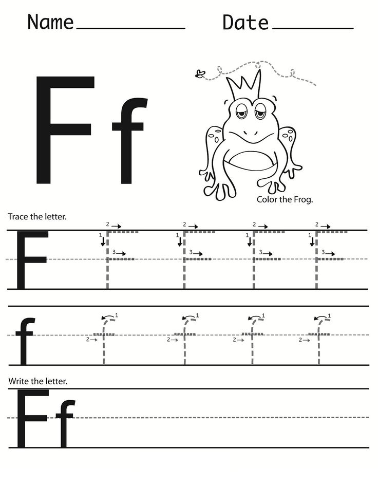 Letter F Worksheet for Preschool and Kindergarten ...