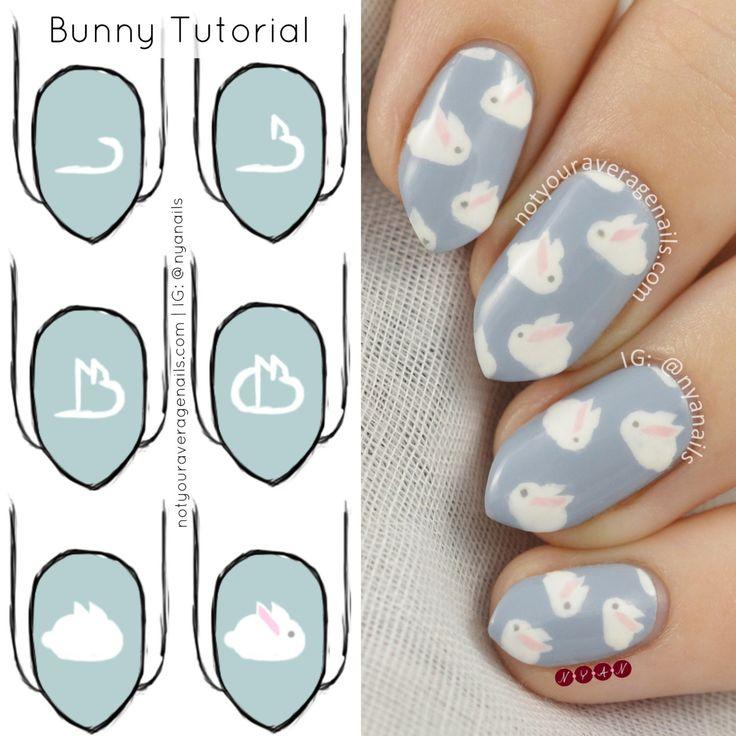 Resultado de imagem para almond nail bunny design