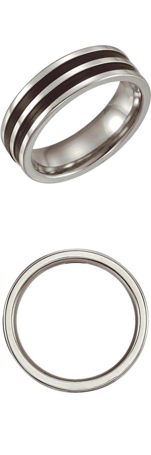 Stainless Steel & Rubber Insert Comfort Fit 6.25mm Band...(ST50536:296189:P).! Price: $39.99
