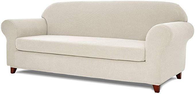 Toyabr 2 Piece Jacquard Stretchy Fabric Sofa Cover Living Room