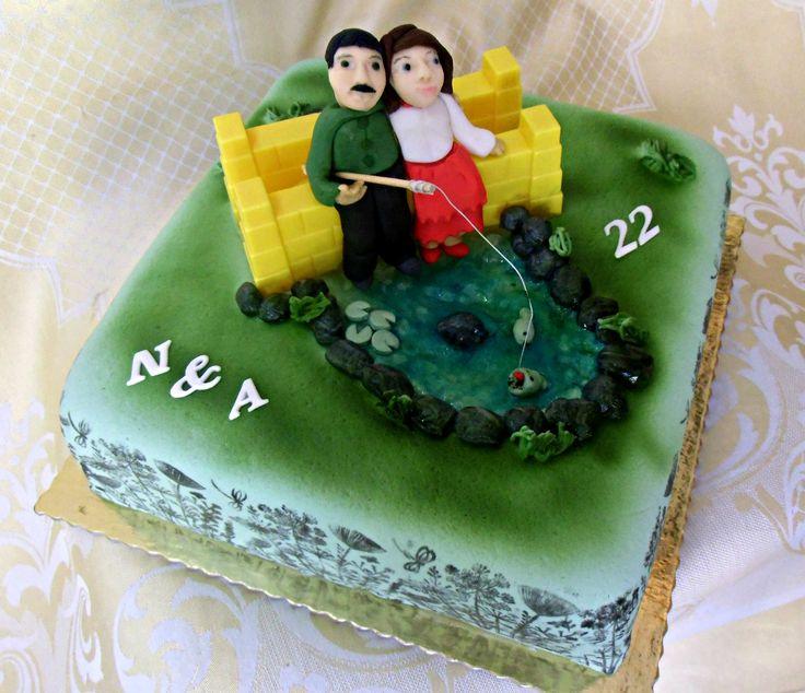 torta k 22 výročiu svadby