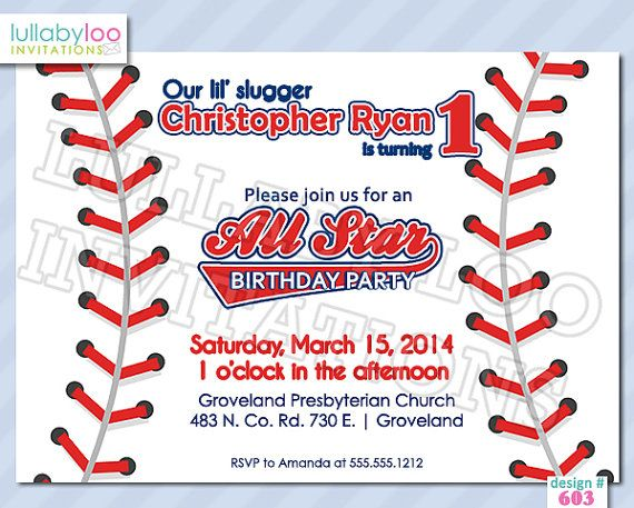 119 best images about Boy Birthday Invitations – Baseball Birthday Party Invitations