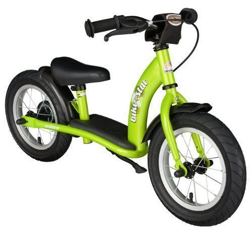 BIKESTAR® Original Safety Lightweight Kids First Balance Running Bike with brakes and with air tires for age 3 year old boys and girls | 12 Inch Classic Edition | Brilliant Green. #BIKESTAR® #Original #Safety #Lightweight #Kids #First #Balance #Running #Bike #with #brakes #tires #year #boys #girls #Inch #Classic #Edition #Brilliant #Green