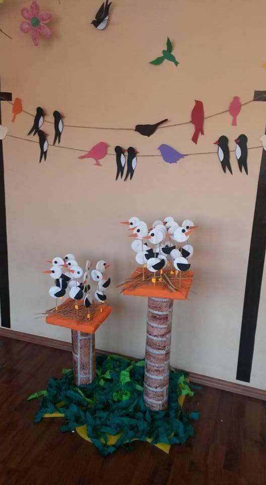 Bu sayfamızda çeşitli malzemelerden yapılmış leylek sanar etkinlikleri yer almaktadır. Çocuklarımıza leylek vb türlerden olan hayvanlaro ya da nesneleri anlatırken somut yollara somut öğelere yer vermek hem çocuklarımızın çabuk kavramasını hem de eğlenceli vakit geçirmelerini sağlayabiliriz. iyi eğlenceler