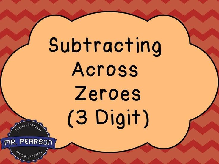 Best Subtraction Across Zeros Images On   Teaching