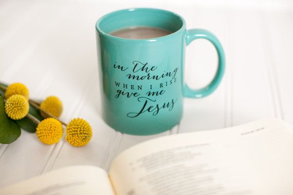 Give Me Jesus Teal Mug by KristinSchmucker on Etsy, $15.00