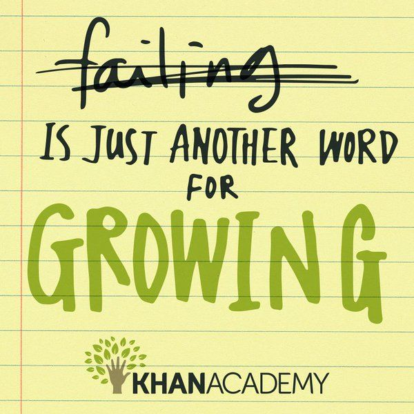 Image result for failing is just another word for growing