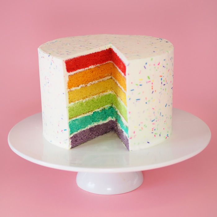 17 Best Ideas About Rainbow Sprinkle Cakes On Pinterest