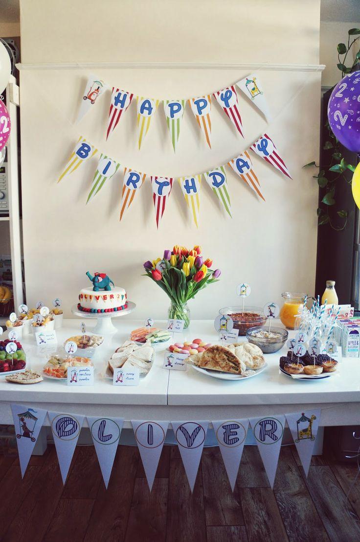 Birthday decorations with cake