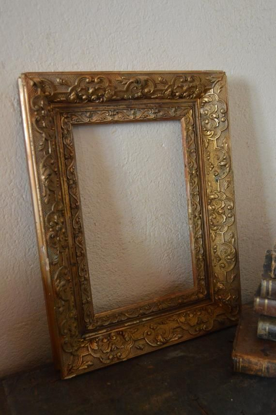 Elegant 19th Century French Antique Wood And Gesso Frame How To Antique Wood Old Wood Wood Interiors