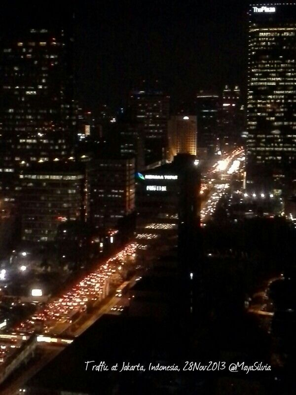 Traffic in Jakarta, at this hour...