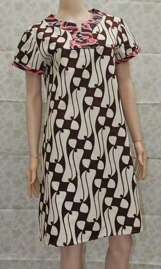 dress motif parang barong kombinasi mega mendung