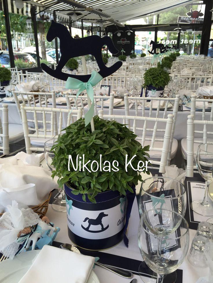 Η βάπτιση του Φίλιππου με θέμα το αλογάκι & άρωμα βασιλικού! www.nikolas-ker.gr