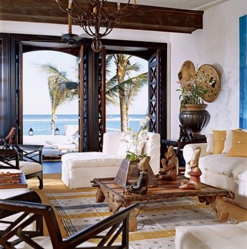 Rustic Exotic Style Living Room Part 45