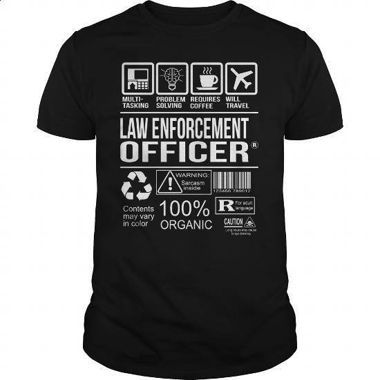 Awesome Tee For Law Enforcement Officer - #gift ideas #sister gift. CHECK PRICE => https://www.sunfrog.com/LifeStyle/Awesome-Tee-For-Law-Enforcement-Officer-105398174-Black-Guys.html?60505