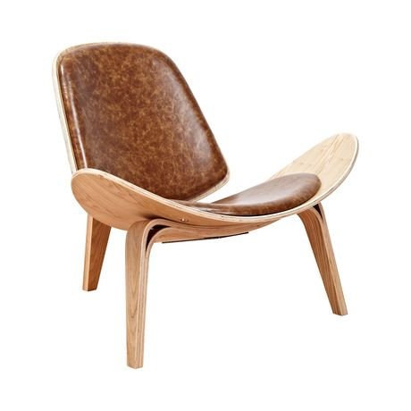 Make a statement with this thoroughly chic chair. Inspired by mid-century silhouettes, this Wings Chair features a strikingly curved design, beautiful natural-finished framing, and charmingly hued anil...  Find the Wings Chair in Natural and Leather, as seen in the President's Day Weekend Sale: Seating Collection at http://dotandbo.com/collections/presidents-day-weekend-sale-2016-seating?utm_source=pinterest&utm_medium=organic&db_sku=116417