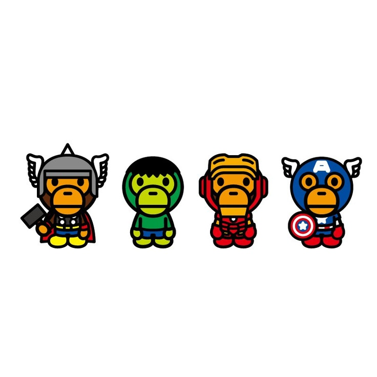 """Marvel Comics x A Bathing Ape 2012 """"The Avengers"""" Collection!!"""