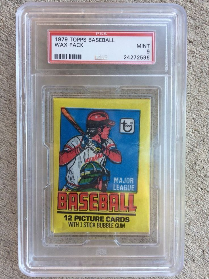 1979 topps baseball card unopened wax pack slabbed and