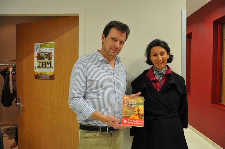 Anne des Editions de la Loupe et Alban d'Epenoux auteur de Le réveil du coeur, prix des maison de la presse 2014.