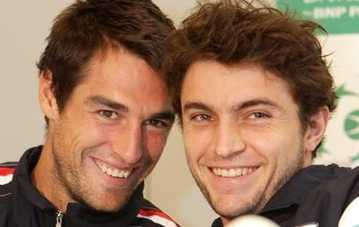 Jeremy Chardy and Gilles Simon! WEE!!!